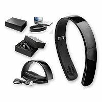 GENUINE - plastová bluetooth audio sluchátka, černá