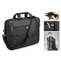 SANTINI ELINE - polyesterová taška na notebook, 600D, černá