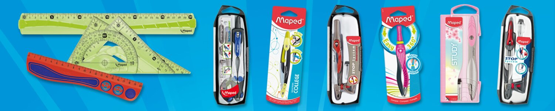 Maped nabízí kompletní nabídku pravítek a kružítek
