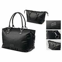 SANTINI MIRABU - nylonová cestovní taška, 420D + PU, černá