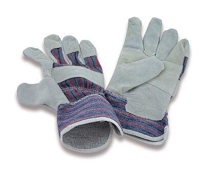 Obrázek produktu Pracovní rukavice textil / kůže - velikost 10