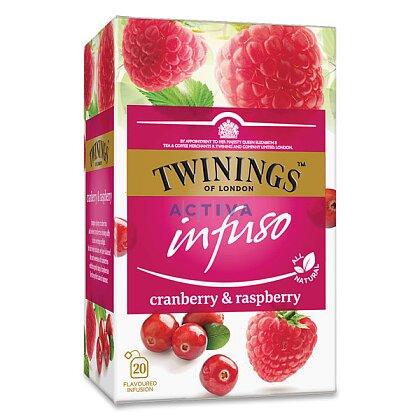 Obrázek produktu Twinings - ovocný čaj - Malina, brusinka, 20 x 2 g
