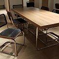 Thonet židle S32N niklovaný rám, olejovaný ořech