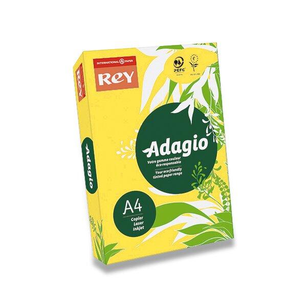 Barevný papír Rey Adagio tmavě žlutý