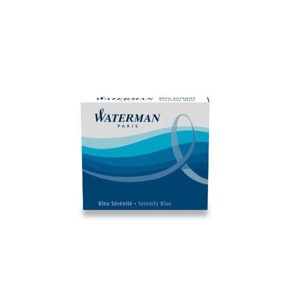 Inkoustové bombičky Waterman krátké modré, omyvatelné