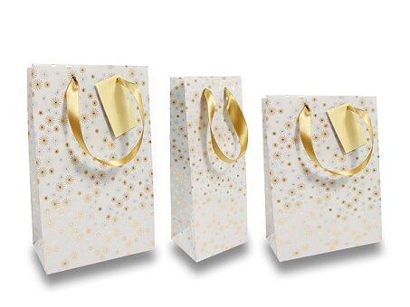 Obrázek produktu Dárková taška Premium Christmas White - různé rozměry