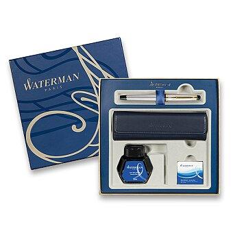 Obrázek produktu Waterman Expert Stainless Steel GT - plnicí pero, dárková sada s pouzdrem a inkoustem