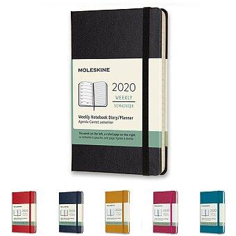 Obrázek produktu Diář Moleskine 2020 - tvrdé desky - S, týdenní, výběr barev