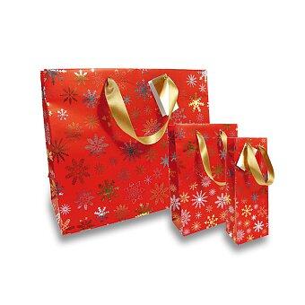 Obrázek produktu Dárková taška Premium Christmas Red - různé rozměry