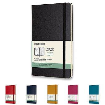 Obrázek produktu Diář Moleskine 2020 - tvrdé desky - L, týdenní, výběr barev