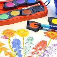 Pampeliška s vodovými barvami
