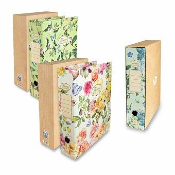 Obrázek produktu Pákový pořadač Pigna Nature Flowers - A4, 80 mm, mix motivů