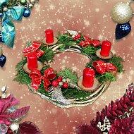 Vánoční věnce na stůl i dveře