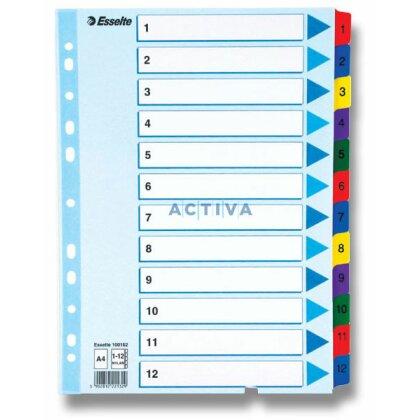 Obrázek produktu Esselte Mylar - kartonový rozlišovač - 12 listů, se štítky 1-12