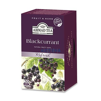 Obrázek produktu Ahmad Tea černý rybíz - ovocný čaj - 20 × 1,8 g