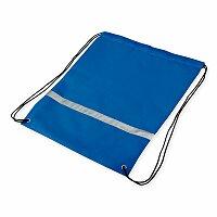 SAFER - polyesterový stahovací batoh s reflexním pruhem, 210D, výběr barev