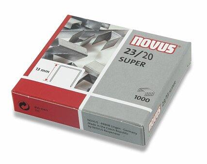 Obrázek produktu Drátky do sešívačky Novus Super 23/20 - 1000 ks, na 200 listů