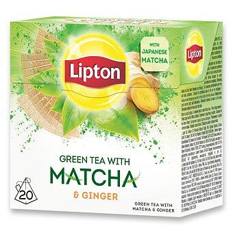 Obrázek produktu Zelelný čaj Lipton Green Matcha Ginger - 20 sáčků