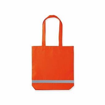 Obrázek produktu FINNO - polyesterová nákupní taška s reflexním pruhem, 210D, výběr barev