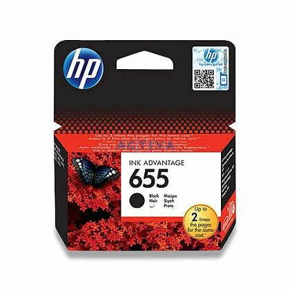Obrázek produktu HP - cartridge CZ109AE Black č. 655 (černá) pro inkoustové tiskárny