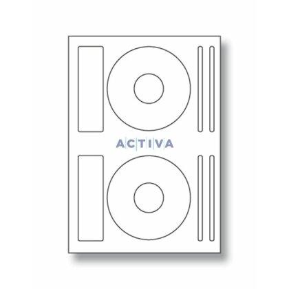 Obrázek produktu SK Label - samolepicí etikety - průměr 118 mm, 200 etiket, na CD/DVD