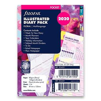 Obrázek produktu Květy 2020 - náplň kapesních diářů Filofax
