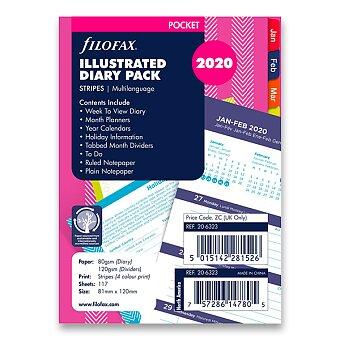 Obrázek produktu Stripes 2020 - týdenní náplň kapesních diářů Filofax