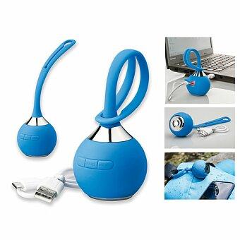 Obrázek produktu NITRO - plastový pogumovaný 2.1 bluetooth reproduktor 3 W, modrá