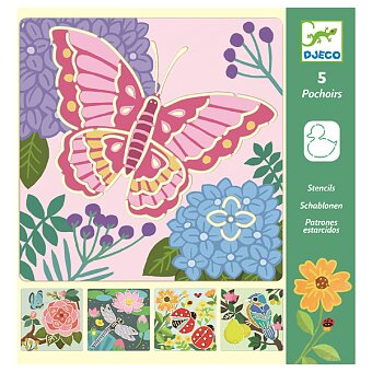 Obrázek produktu Šablony Djeco - Pestrobarevná zahrada