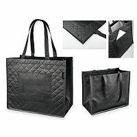SANTINI ARLETA - polaminovaná nákupní taška z netkané textilie, 130 g, černá