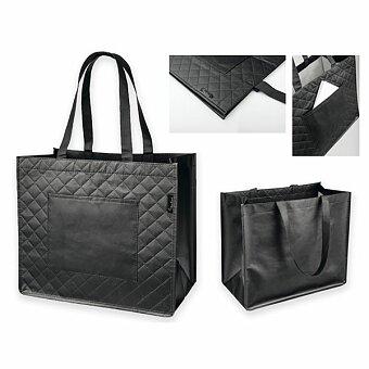 Obrázek produktu SANTINI ARLETA - polaminovaná nákupní taška z netkané textilie, 130 g, černá