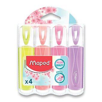 Obrázek produktu Zvýrazňovač Maped Fluo Peps Pastel - 4 ks