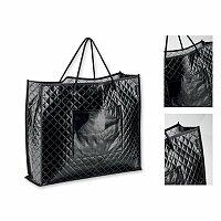 SANTINI KARISSA - polaminovaná nákupní taška z netkané textilie, 150 g, černá