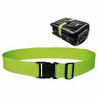 NEO - textilní popruh na kufr, reflexní zelená