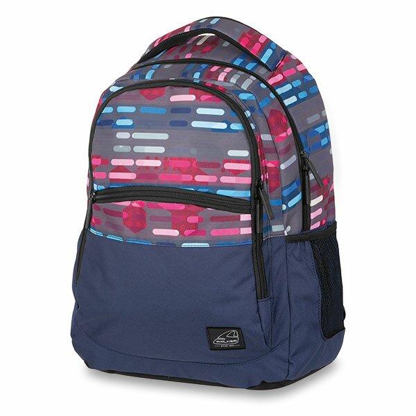 Školní batoh Walker Base Classic Lines Blue Pink