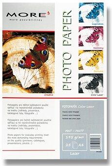 Obrázek produktu Matný fotopapír More Color Laser - A4, 25 listů, matný