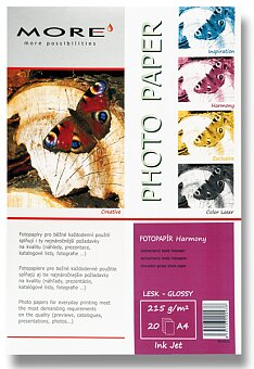 Obrázek produktu Lesklý fotopapír More Harmony Glossy - A4, 20 listů, lesklý