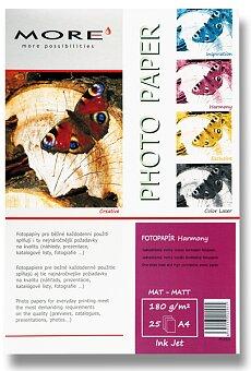 Obrázek produktu Matný fotopapír More Harmony Matt - A4, 25 listů, matný