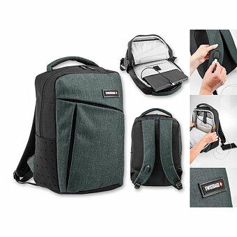 Obrázek produktu SWISSBAGS LOGAN - polyesterový batoh na notebook, 600D, tmavě šedý melír
