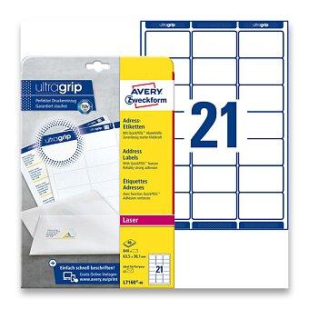 Obrázek produktu Bílé adresní etikety Avery Zweckform pro laserový tisk - 63,5 x 38,1 mm, 840 etiket, laser