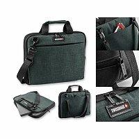 SWISSBAGS KANGA - polyesterová taška na notebook, 600D, tmavě šedý melír