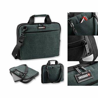 Obrázek produktu SWISSBAGS KANGA - polyesterová taška na notebook, 600D, tmavě šedý melír