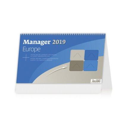 Obrázok produktu Manager Europe 2019 - stolový bezobrázkový kalendár