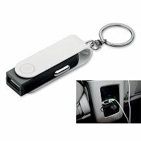 CARTECH - plastový přívěsek - USB adaptér do auta, výběr barev