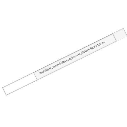 Obrázok produktu Plastová lišta k plánovacej mape A2 - 630 x 60 mm, priehľadná