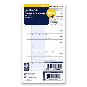 Obrázek produktu Roční plánovací kalendář 2021, Aj - horizontální, náplň osobních diářů Filofax