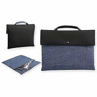 PRESTON - polyesterová taška na dokumenty, 600D/neopren, tmavě modrá