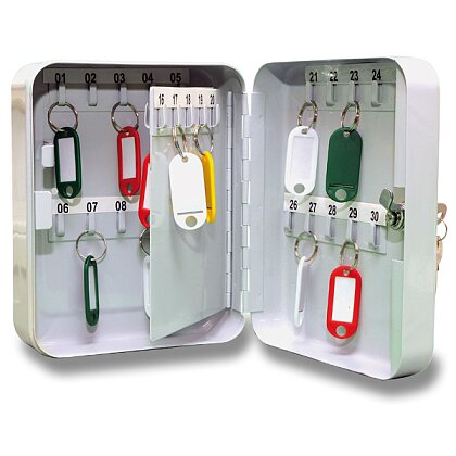 Obrázek produktu ConmetRON - kovová uzamykatelná schránka na klíče - na 30 klíčů