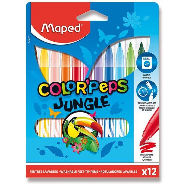 Dětské fixy Maped Color'Peps Jungle 12 barev