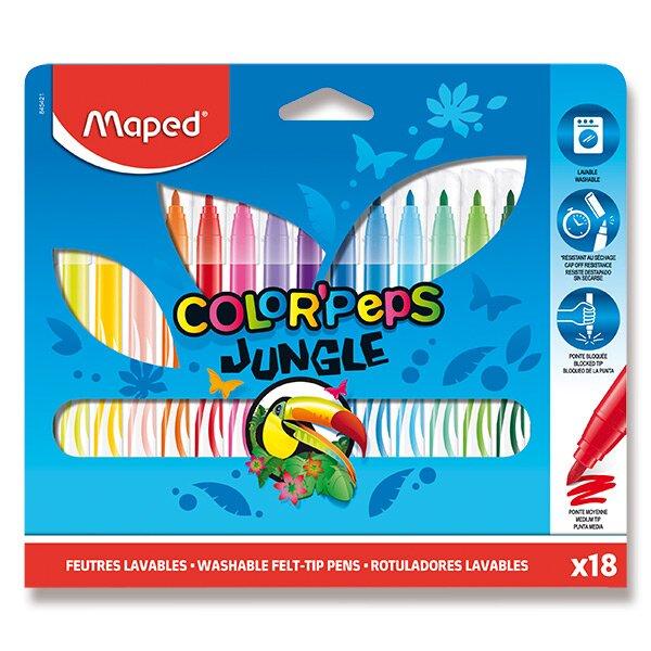 Dětské fixy Maped Color'Peps Jungle 18 barev